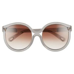 NWT Chloe 57mm Modified Cat-Eye Sunglasses, Grey